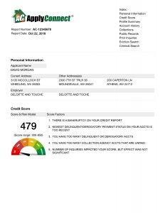 applyconnect tenant screening services sample report