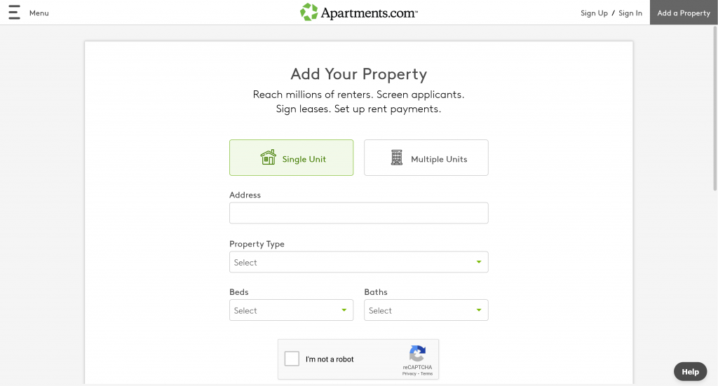 Add your property page when you get set up to advertise on apartments.com