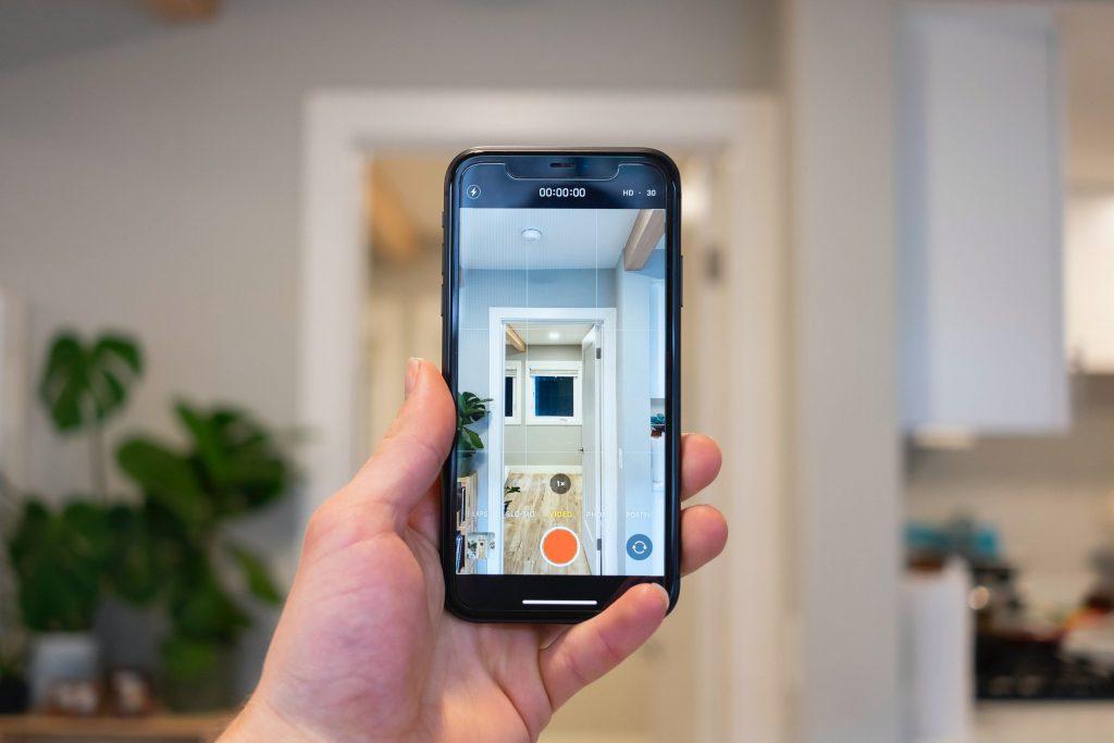 apartment video tour on phone